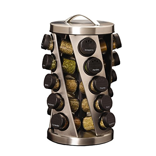 (Kamenstein Twist 20-Jar Revolving Spice Rack with Free Spice Refills for 5 Years)