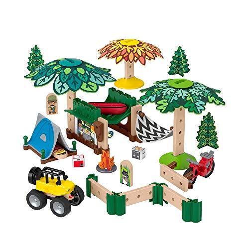 Fisher-Price GFJ10 - Wunder Werker Holzspielzeug Campingplatz Spielset aus FSC zertifiziertem Holz, Spielzeug ab 3 Jahren