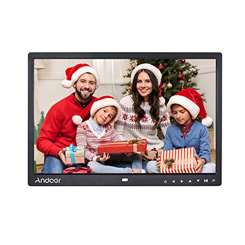 15 inch Digital Photo Frames, Andoer Digital Picture Frame 1280 x 800 HD Resolution 16:9 Wide Picture Screen with Zoom Rotate Music Video Playback Infrared Remote Control from Andoer