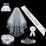 Bridal Veil Bride to Be Satin Sash Bride Review and Comparison