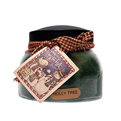 A Cheerful Giver A Holly Tree 22 oz. Mama Jar Candle, 22oz - Holds 22 ounces Burn time is 125 hours All of the candles are made with quality wicks and more fragrance to go above and beyond your expectations - living-room-decor, living-room, candles - 51z8HANlNuL. SS400  -