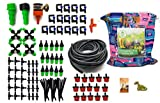 Curioustre Complete Drip Irrigation Kits System 5/7'' 50ft,Blank Distribution Tubing Hose Plant Watering Drip Kit /DIY Saving Water Automatic Equipment for Garden Greenhouse,Rain Bird Sprinkler (Set 1)