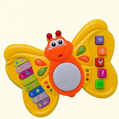 SKNSM Gracioso Bebé Niños Niño Musical Mariposa Piano Electrónica Teclado Juguetes (Azul) para niños: Amazon.es: Hogar