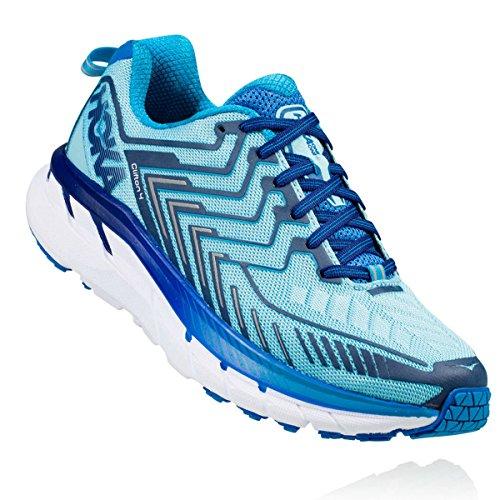 HOKA ONE ONE Women's Clifton 4 Running Shoe Blue Topaz / Imperial Blue