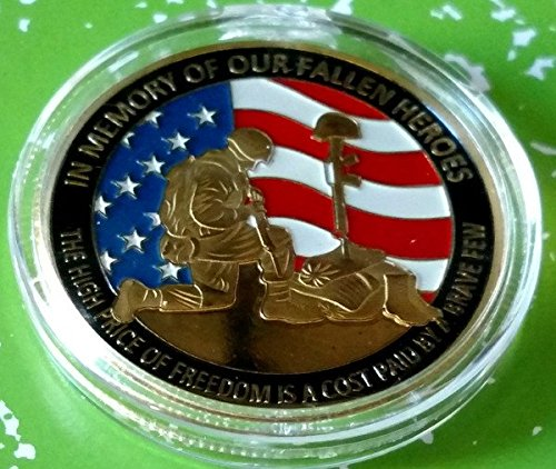 In Memory Of Our Fallen Heroes Military Colorized Challenge Art Coin ()