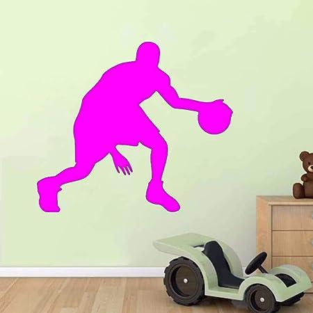 Ajcwhml Atletas Jugando Baloncesto Pegatinas de Pared Dormitorio ...