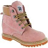 Safety Girl II Soft Toe Waterproof Womens Work Boots - Light Pink