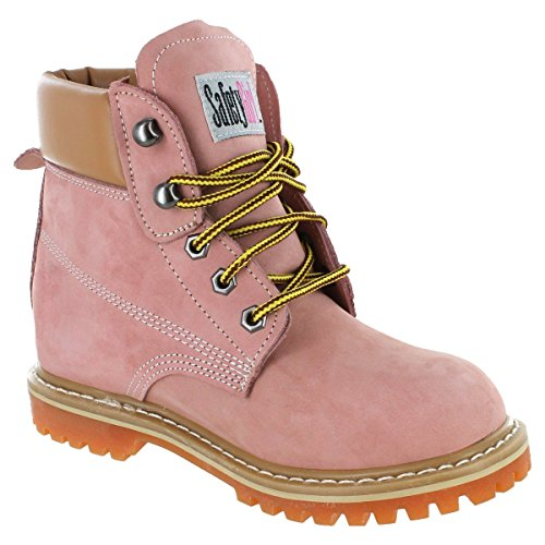 Safety Girl II Soft Toe Work Boots - Light Pink by Safety Girl