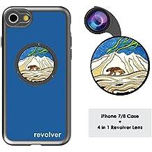 Ztylus Designer Revolver M Series Camera Kit: 4 in 1 Lens with Case for iPhone 7 / 8 – Fisheye Lens, Wide Angle Lens, Macro Lens, CPL (Wolverine Blue)
