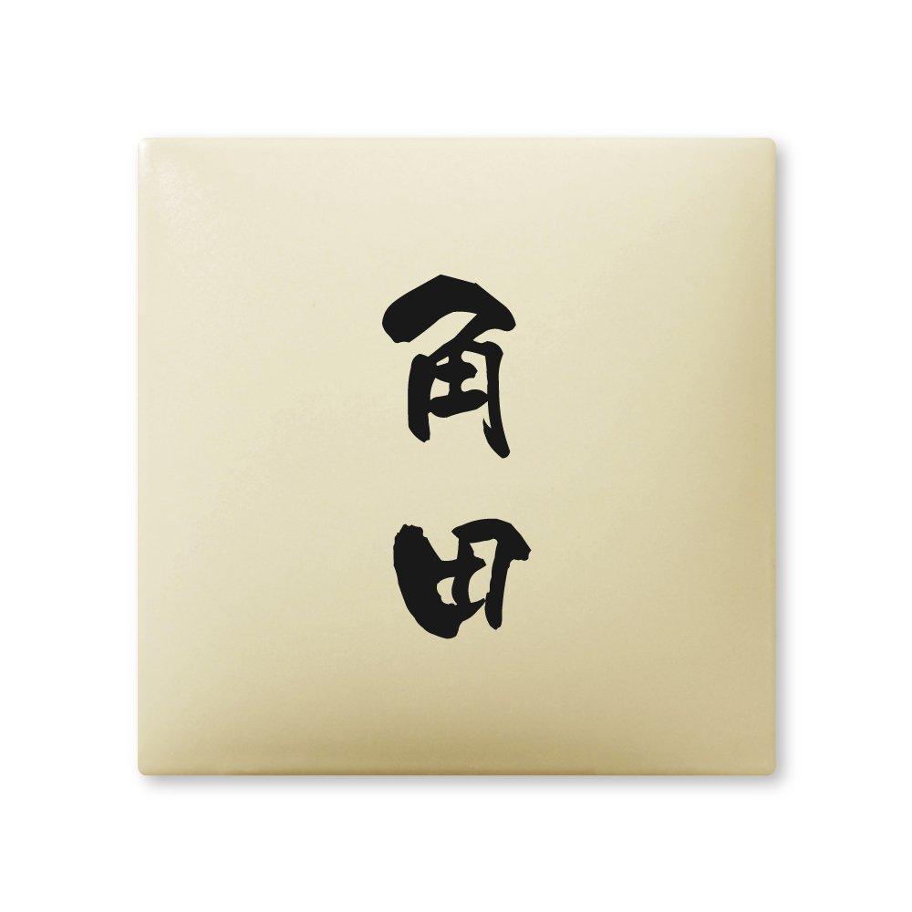 丸三タカギ 彫り込み済表札 【 角田 】 完成品 アークタイル AR-1-2-3-角田   B00RFAI2NA