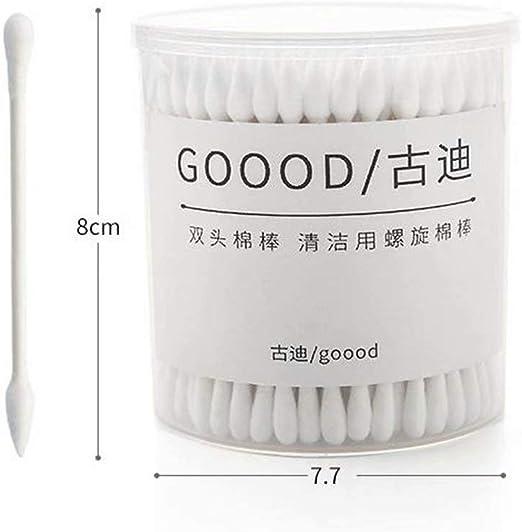 zqh 3 Cajas de 200 bastoncillos de algodón con Mango de bambú ...