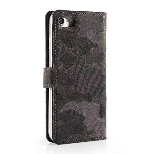 APPLE iPhone 5 - Dunkel Moro - Premium Ledertasche Schutzhülle Wallet Case aus Echtesleder mit Kreditkarten / Notizen Fachern Farbe Dunkel Moro von Surazo® Vintage Kollektion Apple iPhone 5