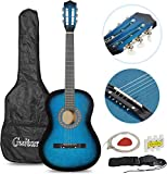 """Smartxchoices 6 String 38"""" Acoustic Guitar w/Gig Bag Strap Pitch Pipe Extra Strings Set Pick for Kids Beginners Starter…"""