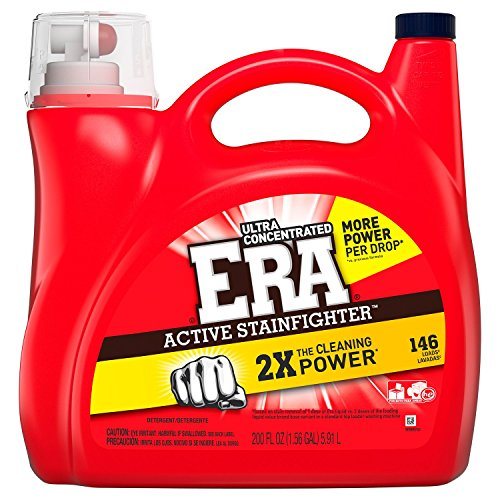 Era 2x Ultra Active Stainfighter Formula Regular Liquid Detergent (200 oz, 146 loads)