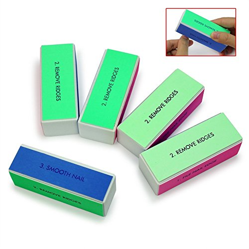 Kathy store INC 5pcs Nail Art Shiner Buffer 4 Ways Polish Sanding File Block Manicure Product