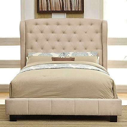 Amazon.com: 247SHOPATHOME IDF-7050IV-CK Bed-Frames, California King ...
