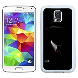 NEW Unique Custom Designed Samsung Galaxy S5 I9600 G900a G900v G900p G900t G900w Phone Case With Shadow Man Black Suit Hat Red Tie_White Phone Case