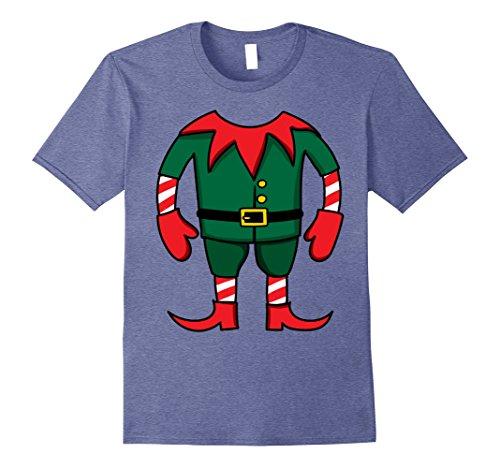 Mens Funny Elf Christmas Group Costume Idea T-Shirt Dwarf Team 3XL Heather Blue