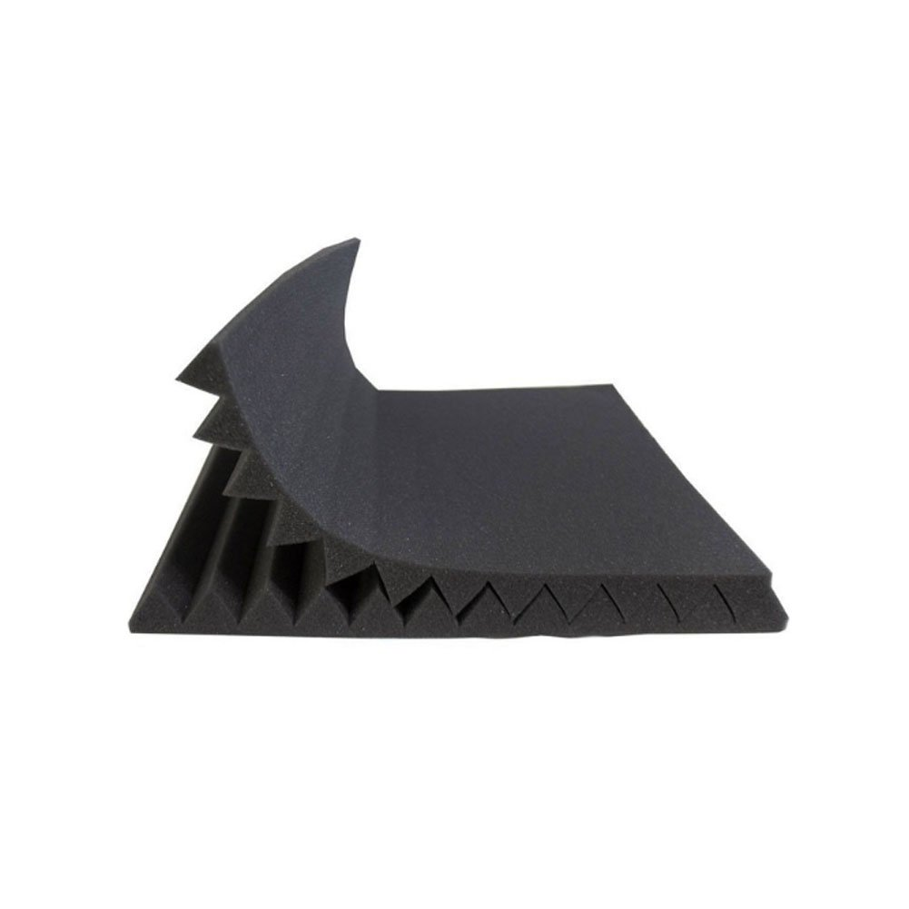 50 Pack All -Black/Blue Acoustic Panels Studio Foam Wedges 1'' X 12'' X 12'' (50pack, Black&Blue) by guohongus (Image #4)