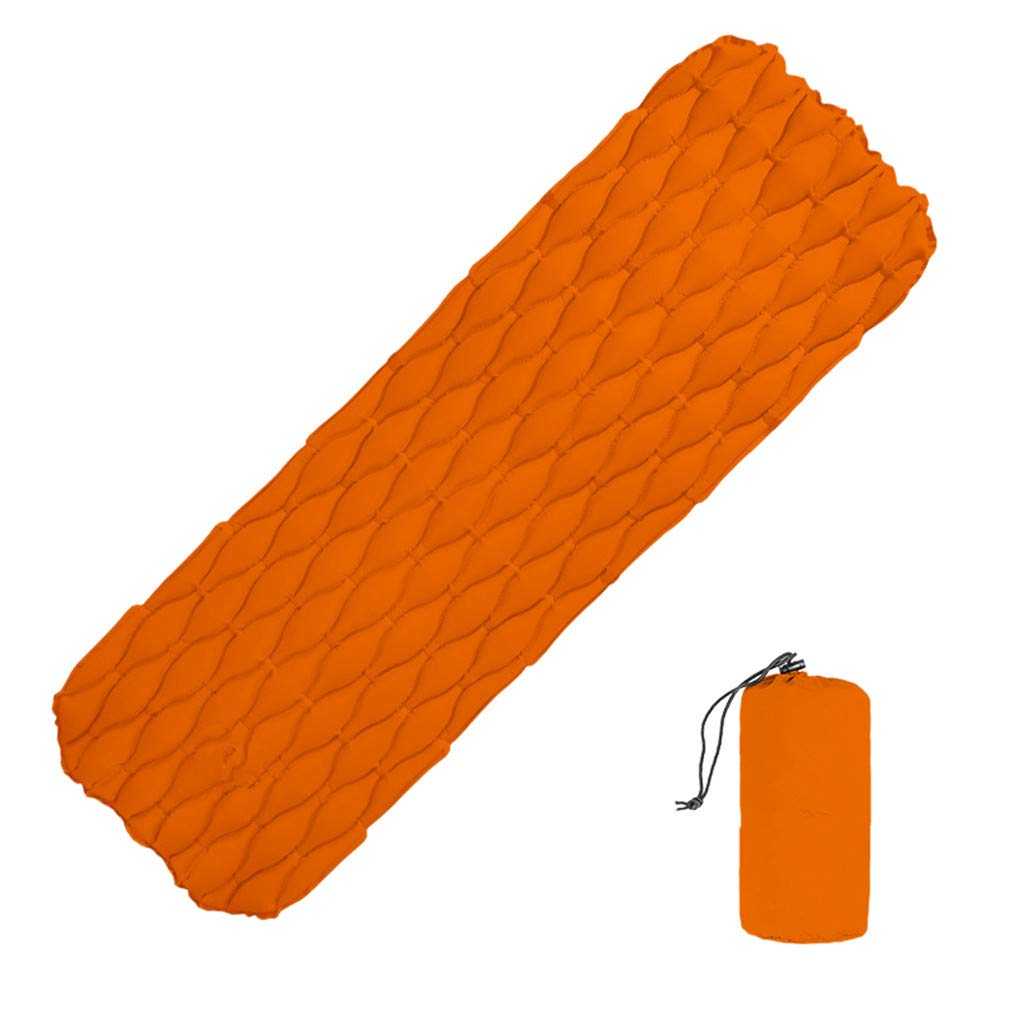 CreazyBee Inflatable Air Mat Mattress Outdoor Tent Mat Travel Camping Hiking Sleeping Pad (Orange) by CreazyBee