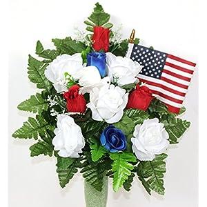 Gorgeous Memorial Vererans Day 4th Of July Cemetery Arrangement For Mausoleum 1