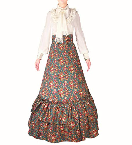 I-Youth Womens Lace Marie Antoinette Masked Ball Victorian Costume Dress (S, 3Floral)]()