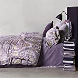 Auvoau Boho Style Duvet Cover Set Colorful Stripe Sheet Sets Paisley Bedding Set Bohemia Bedding Set Baroque Style Bedding Set Colorful Boho 4pcs Queen King Size (King, 3)