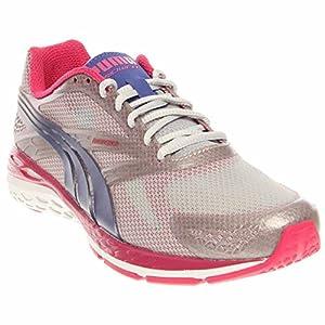 PUMA Women's Bioweb Speed Training Shoe,Glacier Gray/Beetroot Purple/Spectrum Blue,8.5 B US