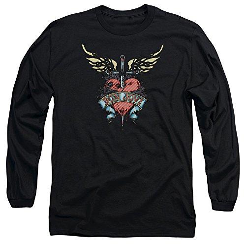 Bon Jovi Greatest Hits Art Adult Long-Sleeve Shirt