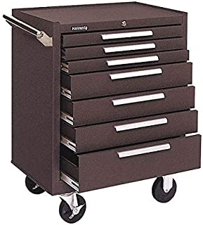 product image for Kennedy Manufacturing 277XB K1800 Series 27in 7-Drawer Industrial Roller Cabinet, Ball-Bearing Slides, Tubular Lock, Brown