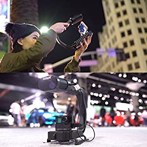 Sevenoak MicRig Video Bundle with Grip Handle, Stereo Microphone, 160 LED Light, Shoe Extender Bracket, Windscreen, & Adapters for DSLR Cameras, Smartphones & GoPro