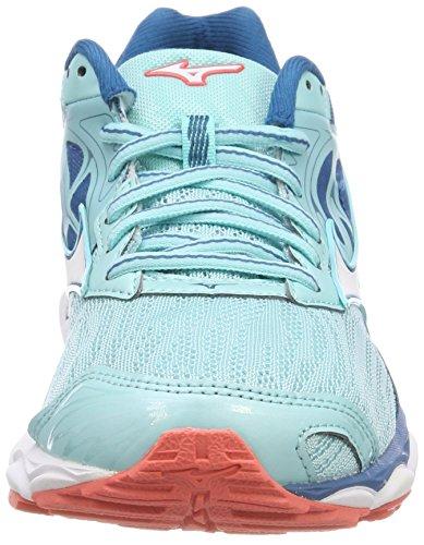 WOS da Aquasplashwhitebluesapphire Inspire Donna 14 Scarpe Mizuno Turchese Running Wave twUWX