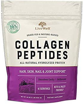 Collagen Peptides Hair, Skin, Nail, and Joint Support Protein (41 Servings)