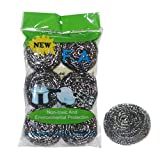 MNLOS Stainless Steel Sponges Scrubbing Scouring Pad Steel Wire Ball Scrubber, Package of 6