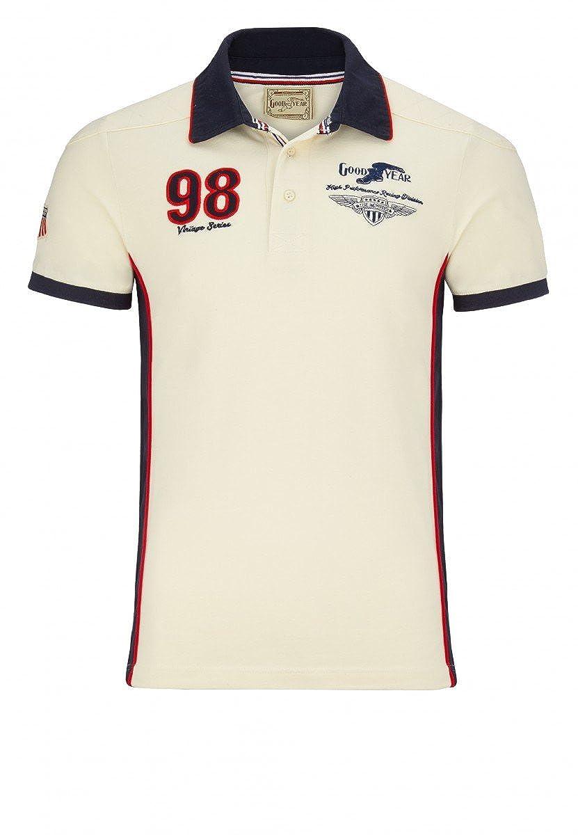 Goodyear Polo Shirt Slim Fit Fremont, Farbe:ecru;Größe:S: Amazon ...