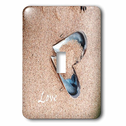 3dRose lsp_205065_1 Print Of Oyster Shell Heart with Word Love - Single Toggle Switch