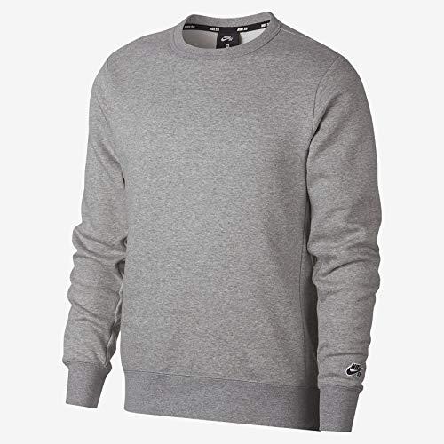 Nike Heather Dk shirt Manches Icon Longues Nk M Sb Homme black Crew Flc Grey À Essnl T rSrR4q