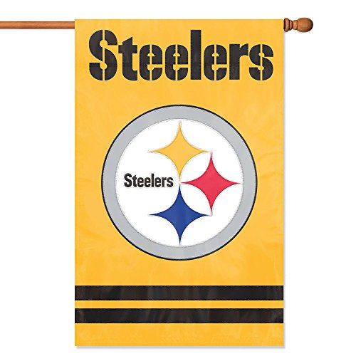 - Party Animal Pittsburgh Steelers Banner NFL Flag, Yellow