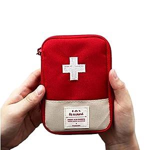 Mini bolsa médica Kit de primeros auxilios Bolsa de embalaje de drogas Viaje al aire libre Portable Red 3
