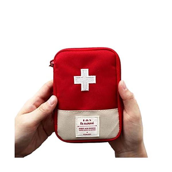 Mini bolsa médica Kit de primeros auxilios Bolsa de embalaje de drogas Viaje al aire libre Portable Red 1