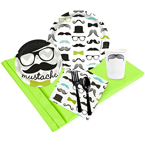(BirthdayExpress Mustache Man Party Supplies - Party Pack for)