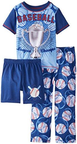 Komar Kids Little Boys' Baseball 3 Piece Set, Blue, Large