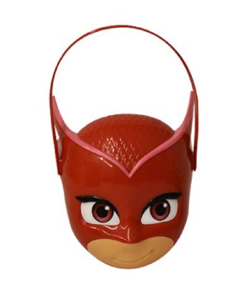 Boys Girls Child PJ Masks Figural Pail Basket-- Red Owlette