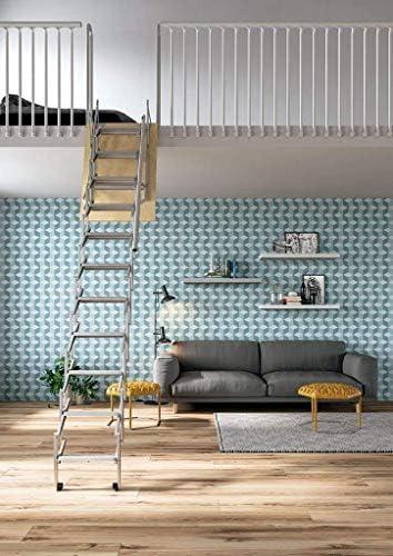 Mister Step UP Escalera escamoteable tipo tijera para altillos y loft: puerta de madera multicapa 70x100 cm. (H 275 cm.): Amazon.es: Bricolaje y herramientas