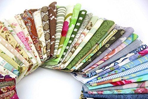 de 10 x 10 cm paquete de 50 de RayLineDo de algod/ón Recuadros de tela con dise/ño de mosaico