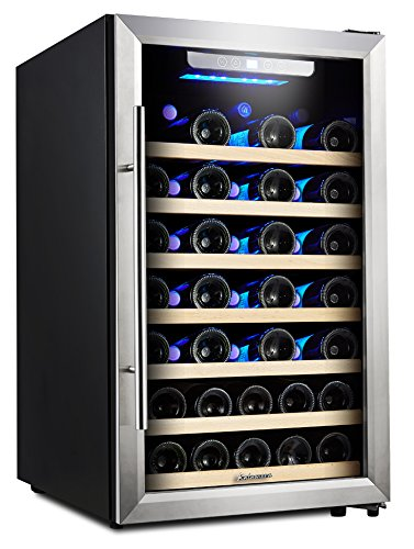 Kalamera 50 Bottle Compressor Wine Refrigerator Single Zone with Touch Control (Bottle Wine Single)