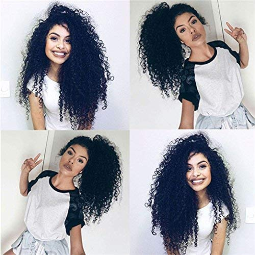 22inch Clip in Kinky Curly Hair Extensions brazilian kinky curly virgin hair Natural 3B 3C Kinky Curly Clip Ons Full Head