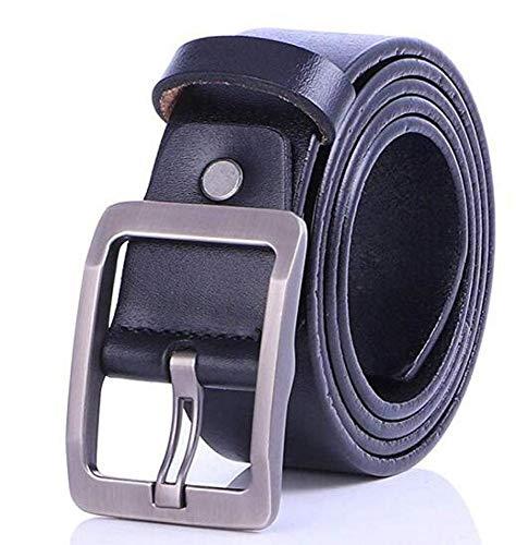 Price comparison product image CTO Herren Nadel Knopf Ledergürtel Freizeit Pure Cowskin Belt, B, 110Cm
