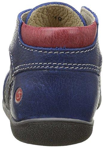 GBB Natale - Zapatos de primeros pasos Bebé-Niñas Azul - Bleu (12 Vte Bleu/Rouge Dpf/Raiza)