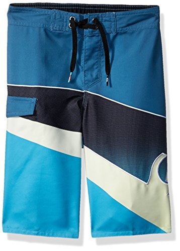 Quiksilver Boys' Little Slash Fade Logo Youth Boardshort Swim Trunk, Real Teal, ()